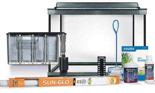 20 gallon turtle tank - Marina Style 20 Deluxe Glass Aquarium Kit